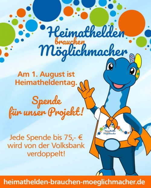 1. August 2021 ab 12 Uhr – jede Spende zählt!